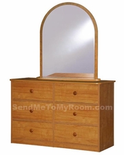 22-28 Double Dresser shown with optional Mirror