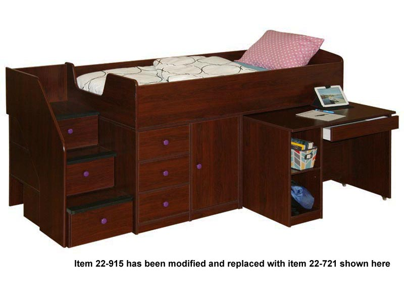 Sierra captains bed with desk amp stairs 22 721 regular beds