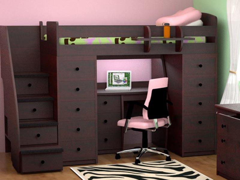 stair loft bed with desk 1