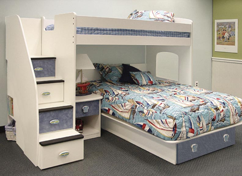 23-815 Utica Twin/Full Loft Bed with 4-Stairs