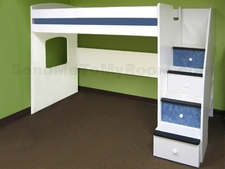 23-825 Utica Twin Loft Bed with 4-Stairs