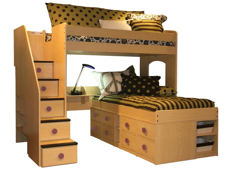 Of Berg Sierra Captains Loft Bed Furniture Collection Twin Full With  800 x 600