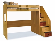 23-835 Utica High Dorm Loft Bed with 5-Stairs