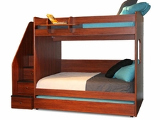 23-935 Utica Full over Full High Bunk Bed with 5-Stairs