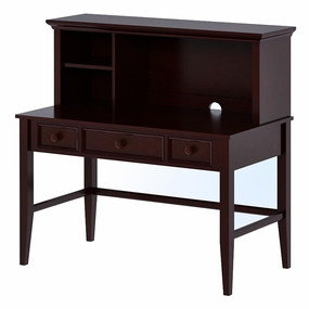 3 Drawer Desk and Mini Hutch in Espresso