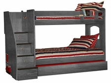 40-415 Enterprise Twin/Twin Bunk Bed with 4-Stairs