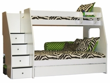 40-515 Enterprise Twin/Full Bunk with 2-Panels & 4-Stairs