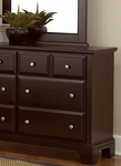 Hamilton 6 Drawer Dresser shown with optional Mirror in Merlot