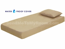 "8"" Memory Foam Mattress with Waterproof Beige Cover"
