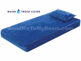 "8"" Memory Foam Mattress with Waterproof Blue Cover"