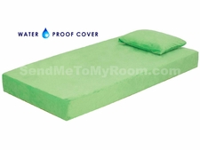"8"" Memory Foam Mattress with Waterproof Green Cover"
