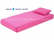 "8"" Memory Foam Mattress with Waterproof Hot Pink Cover"