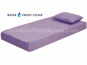"8"" Memory Foam Mattress with Waterproof Lavender Cover"