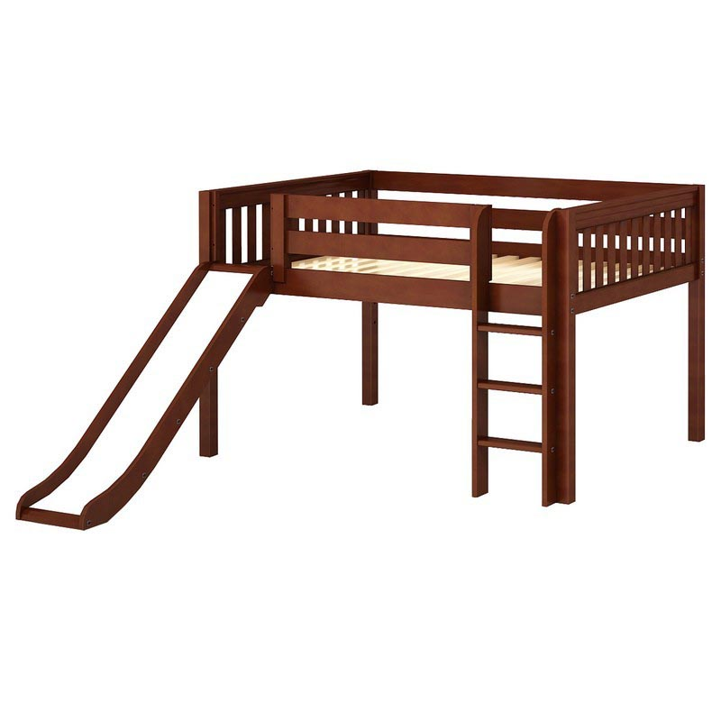 Full size loft bed with slide full size low loft beds with slide