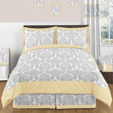 Avery Yellow and Gray Comforter Set