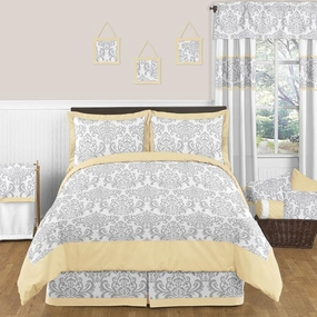 Avery Yellow and Gray Kids Bedding Collection