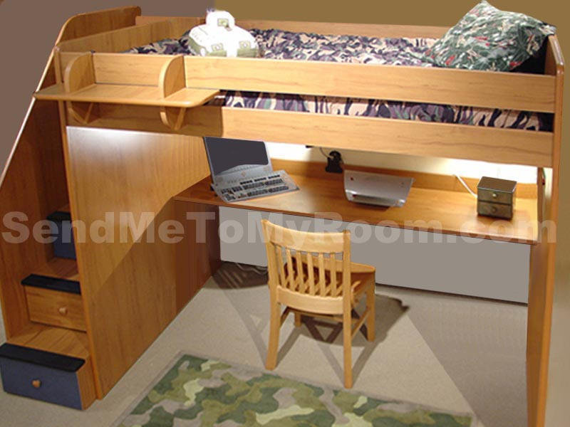 Full Loft Bed with Stairs 800 x 600