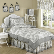 Black Toile Comforter Set