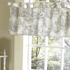 Black Toile Window Valance