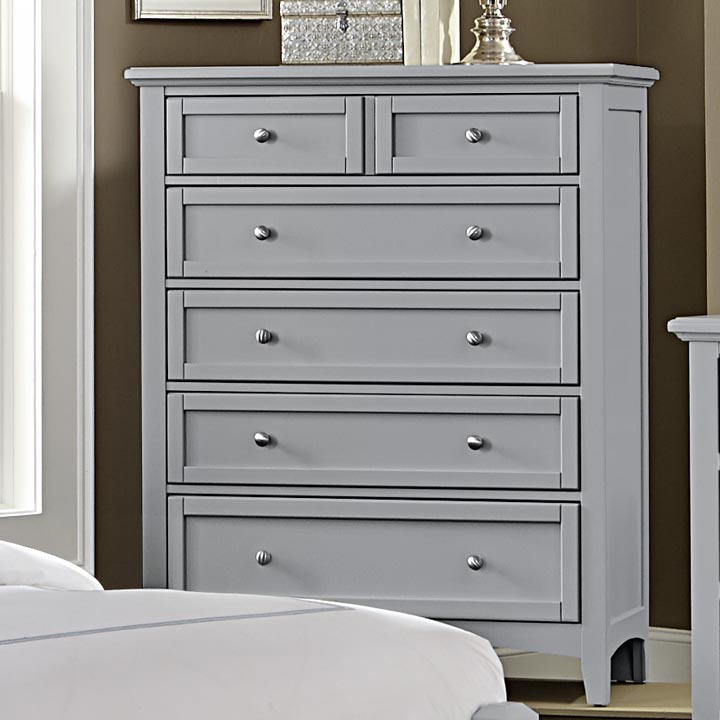 Boulevard 5 Drawer Chest in Grey. Virginia House Boulevard 5 Drawer Chest in Grey   Dressers and Chests