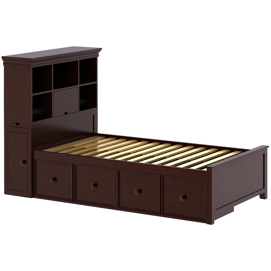 Craft Furniture Boston 1 Twin Bed with 2 Drawer in Cherry - Craft ...