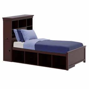 Boston 3 Twin Bed with Cubbies in Espresso