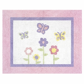 Butterfly Pink & Lavender Accent Floor Rug