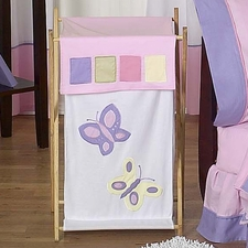 Butterfly Pink & Lavender Laundry Hamper