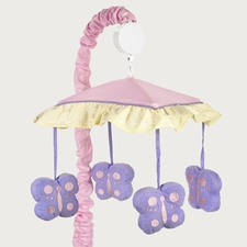 Butterfly Pink & Lavender Musical Crib Mobile