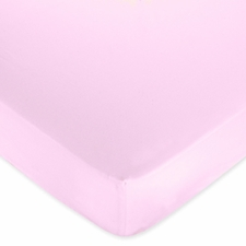 Butterfly Pink & Lavender Pink Fitted Crib Sheet