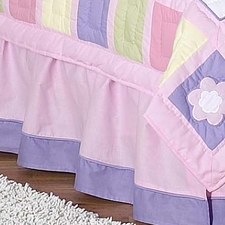 Butterfly Pink & Lavender Full/Queen Bed Skirt