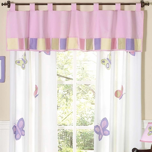 Butterfly Pink & Lavender Window Valance