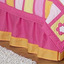 Butterfly Pink & Orange Full/Queen Bed Skirt