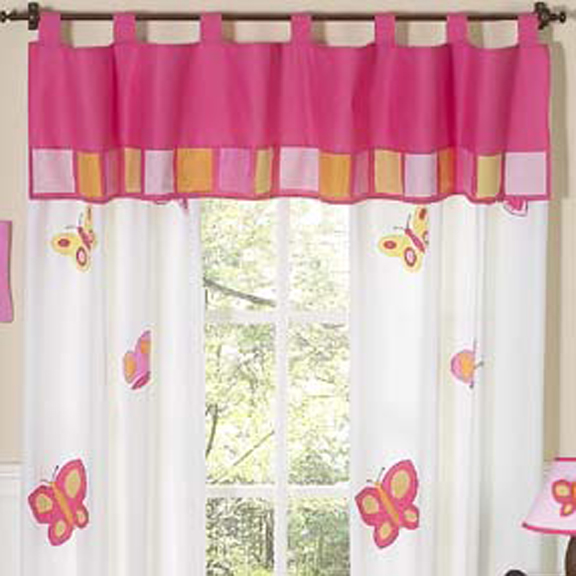 Butterfly Pink & Orange Window Valance