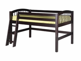 Twin Arch Spindle Low Loft Bed