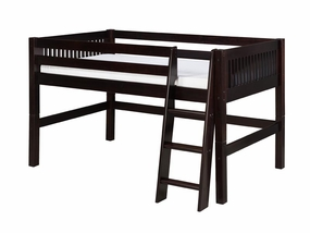 Mission Low Loft Bed in Cappuccino