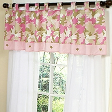 Camo Pink Window Valance