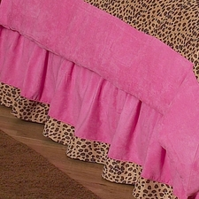 Cheetah Pink Full/Queen Bed Skirt