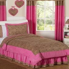 Cheetah Pink Comforter Set