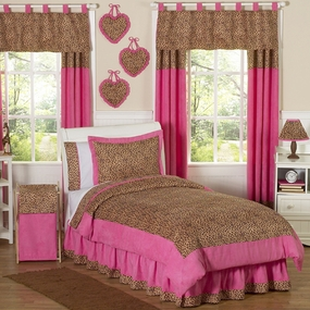 Cheetah Pink Kids Bedding Collection