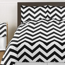 Chevron Black and White Comforter Set
