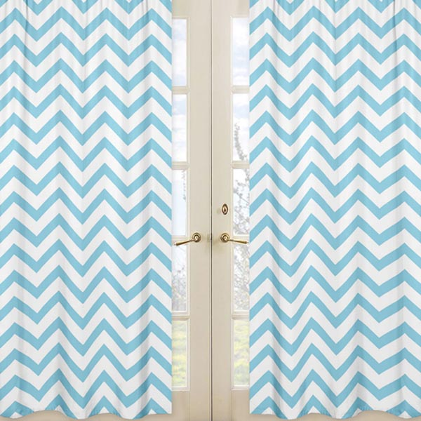 Blue And Orange Shower Curtain Blue and White Chevron Table