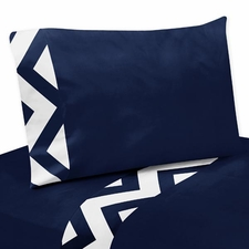 Chevron Navy and White Kids Sheet Set