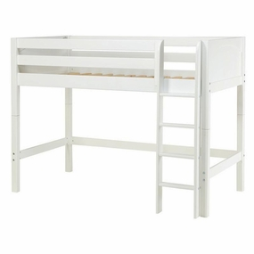 Chip Mid-Height Loft Bed with Straight Ladder