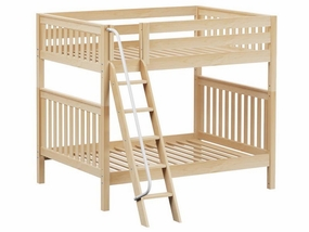 Chuff Full/Full HIGH Bunk Bed with Angled Ladder and Handrail