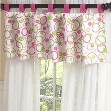 Circles Pink Window Valance