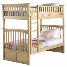 Columbia Twin/Twin Bunk Bed in Natural