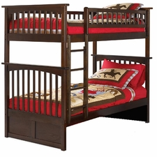 Columbia Twin/Twin Bunk Bed in Antique Walnut