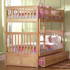 Columbia Twin/Twin Bunk Bed with Trundle in Natural