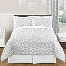 Diamond Gray and White Kids Comforter Set